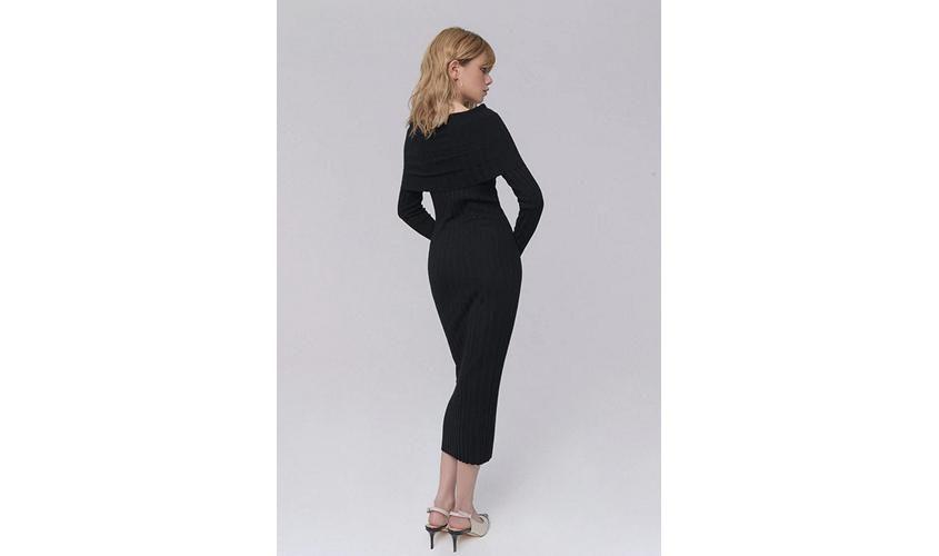 Платье вязаное черное Фаберлик